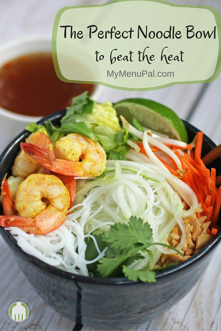 Vietnamese Vermicelli Shrimp and Cucumber Bowls are the perfect hot weather meal - so cool and refreshing.