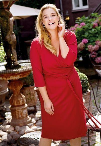 Wickelkleid Stoff Stil Schnittmuster Kleid Große Größen