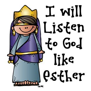 Esther took a stand against those who would hurt her people Show others that you too will listen to God and fight for what is right https://www.etsy.com/shop/melonheadzdoodles?ref=l2-shopheader-name