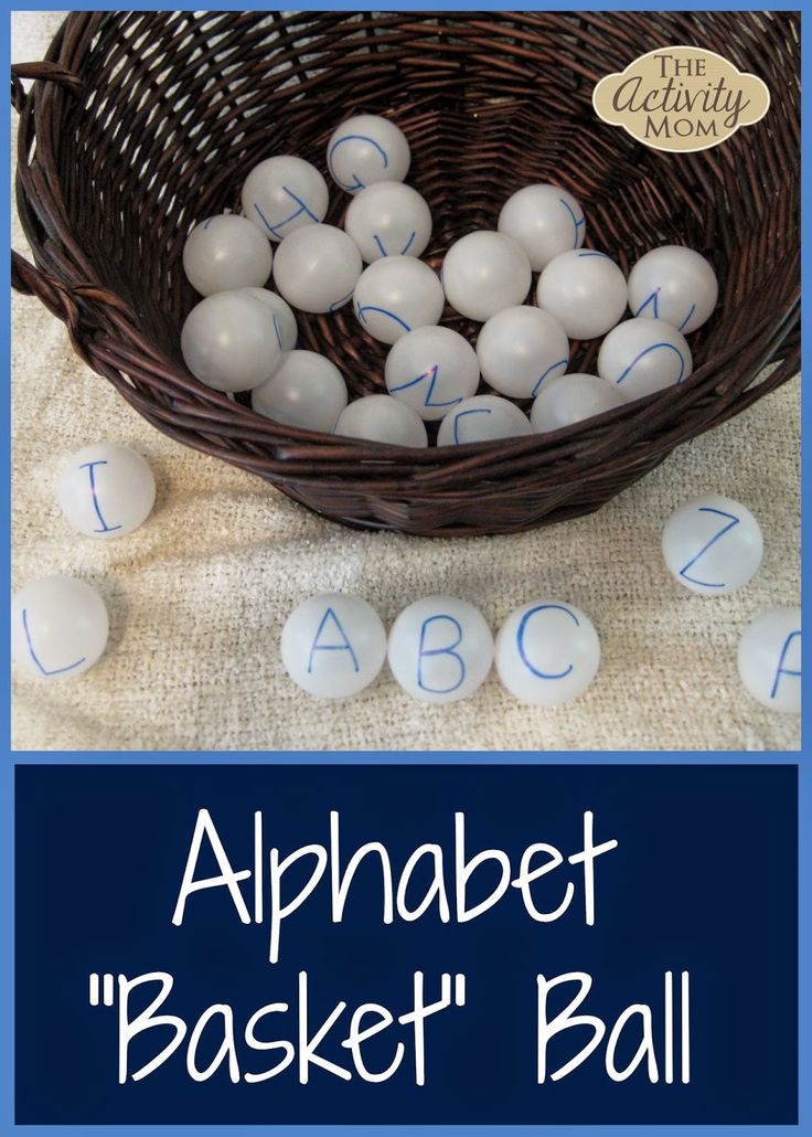 DIY Alphabet Basketball for Toddlers and Preschoolers