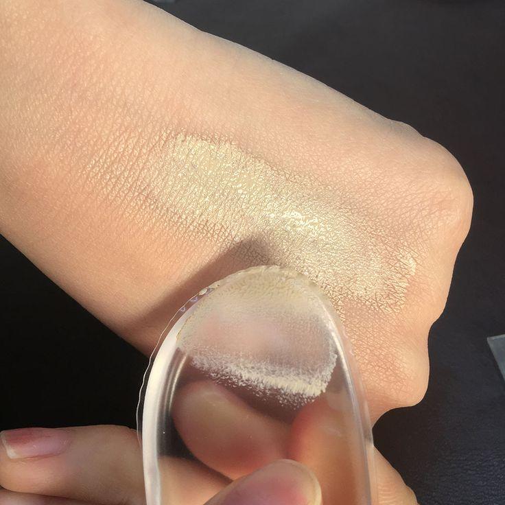 1 pz New Soft Gel Del Silicone Lady Viso Fondazione Soffio Cosmetico beauty trucco strumenti non polvere di spugna blender per le donne bb cc Box