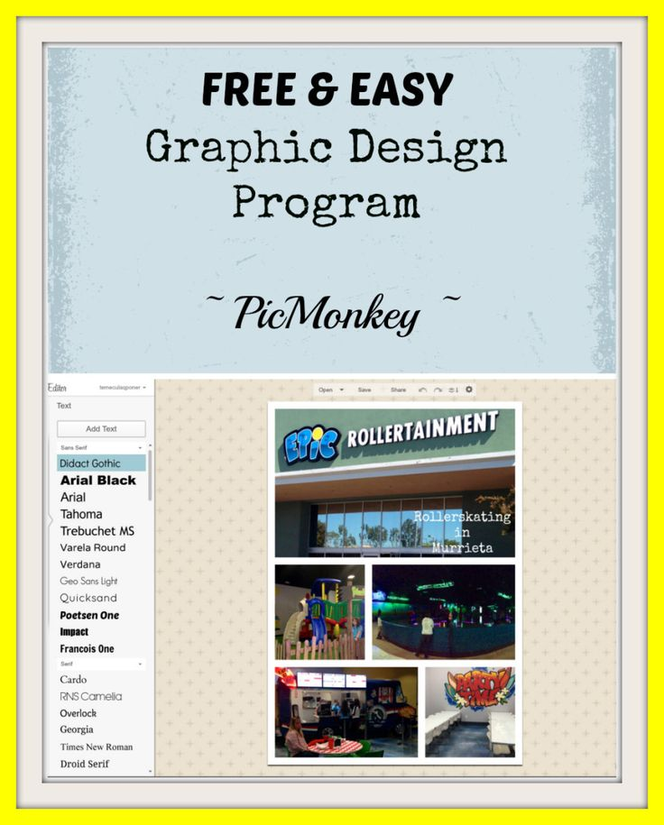 Free and Easy Graphic Design Program ~ Great Resource for Beginners