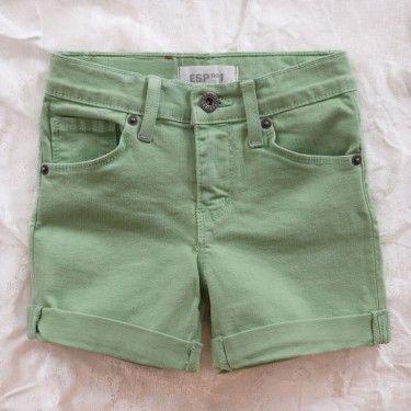 esp no. 1 jean short - faded mint-LOVE THE COLOUR