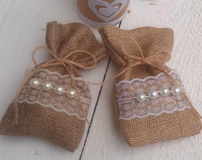 Arpillera Favor bolsa - arpillera boda favor bolso rústico Favor bolsa - Favor de la boda rústica - Favor - regalo bolsa - rústico - conjunto de la boda de 25