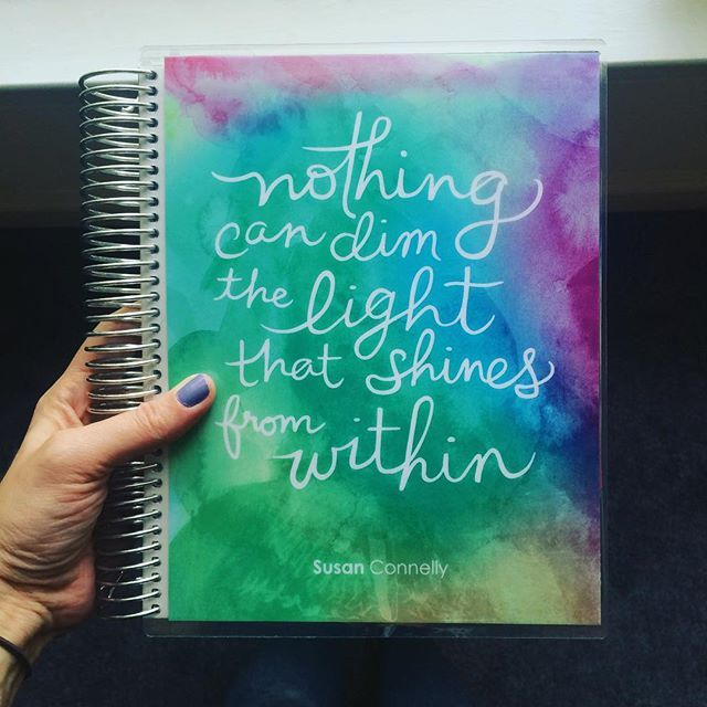✨ Nothing can dim the light that shines from within ✨ I am so excited that my @erincondren planner came in today! I plan to do a review on the blog soon so please stay tuned  @ladysue
