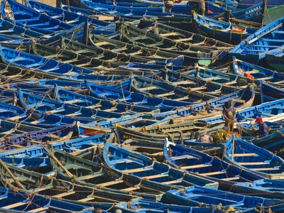 Fishing Boats in the Coastal City of Essaouira, Morocco, North Africa, Africa. Photographic print from Art.com.