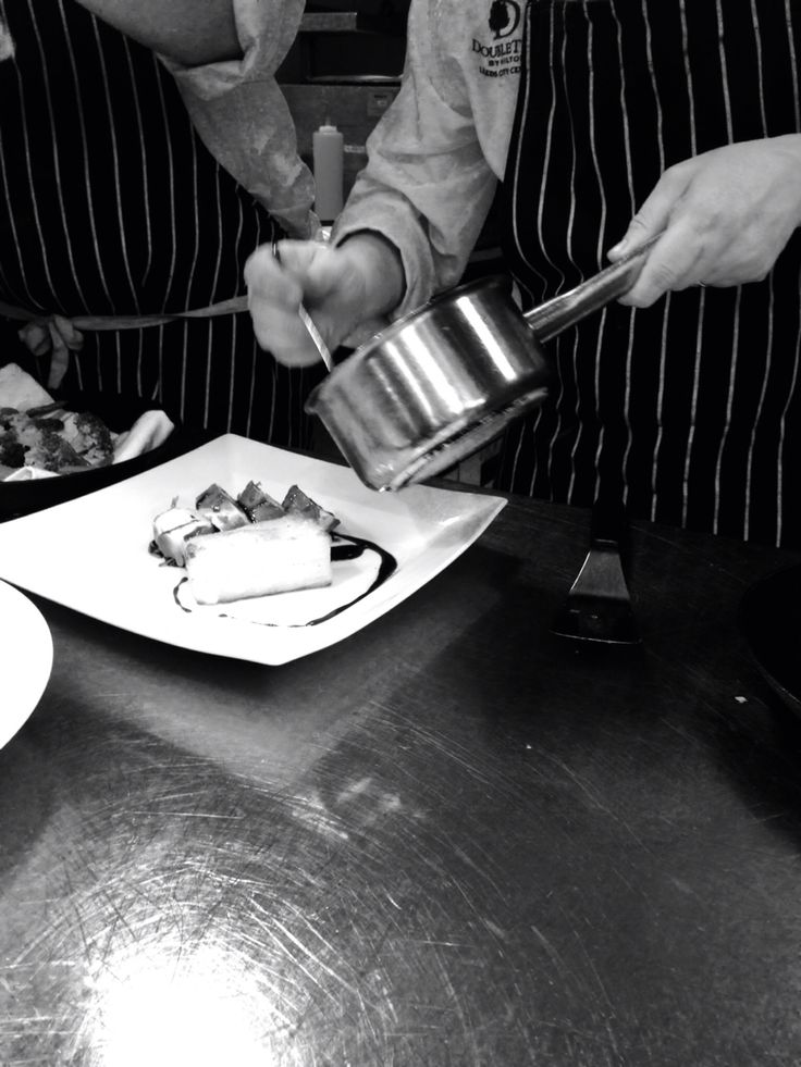 Precision and steady hands,our head chef Daniel Benefer