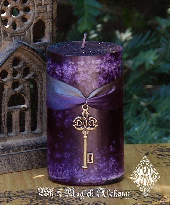 White Magick Alchemy - Key to the Crossroads HEKATE Pillar Candles Dark Goddess, Otherworldly Spirit Workings, $13.95 (http://www.whitemagickalchemy.com/key-to-the-crossroads-hekate-pillar-candles-dark-goddess-otherworldly-spirit-workings/)