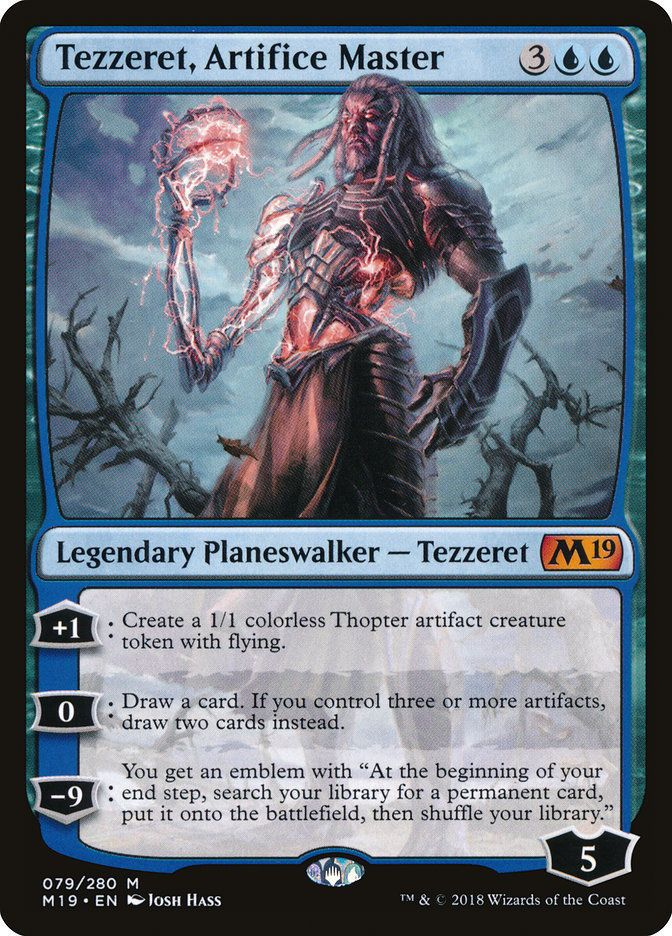 1x Tezzeret English Mirrodin Besieged MTG Magic Agent of Bolas NM-Mint