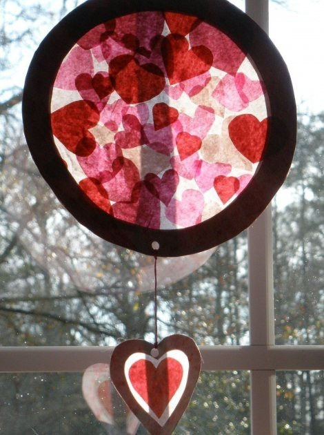 valentine craft, except a heart shape on top!