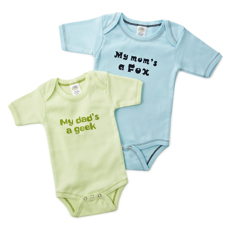 PARENTAL COMMENTARY BABYSUIT | My Dad's A Geek, My Mom's A Fox, Baby Clothes | UncommonGoods
