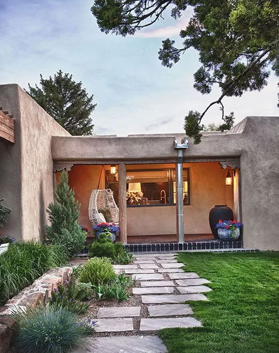 768 best santa fe adobe style images on pinterest for Adobe home builders california