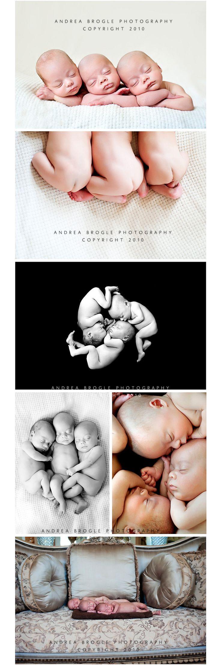 triplets series: Newborn Photography, Photo Ideas, Triplet Photos, Triplet Newborns, Baby Child Photography, Newborn Triplets, Baby Photos, Triplet Stuff