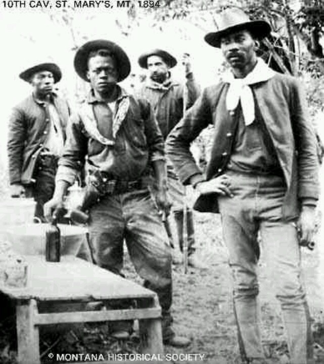 Buffalo Soldiers 10th Calvary 1894 - Montana Historical Society (one of my favorite photos of all time! Look at that swag!)