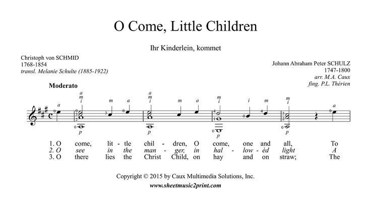 O Come, Little Children - Guitar http://www.sheetmusic2print.com/Christmas/Guitar/Come-Little-Children.aspx