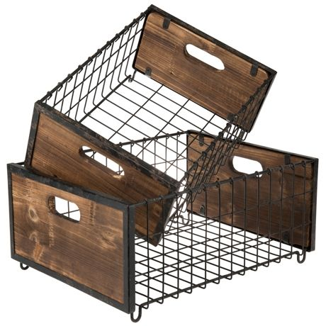 Store It Baskets Set of 2 For Real Living #reallivingxfreedom