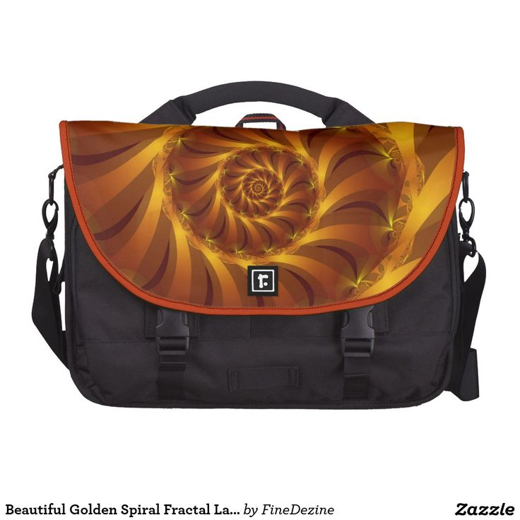 Beautiful Golden Spiral Fractal Laptop Bag