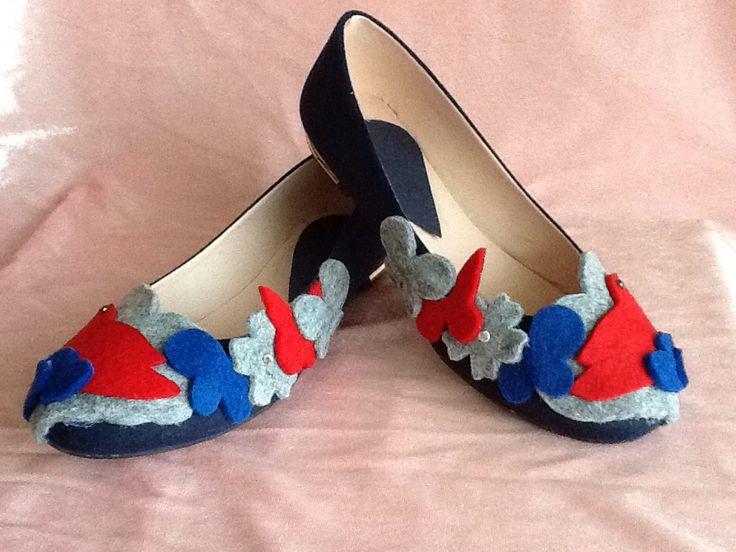 Keçe Süslemeli Ayakkabı