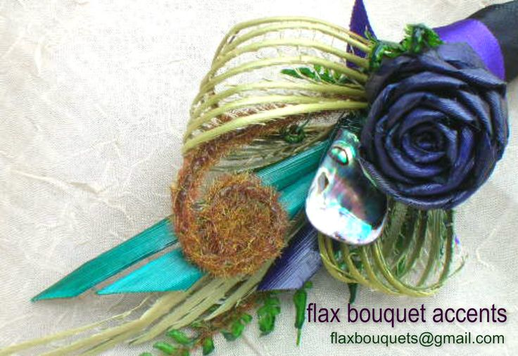 httpps://www.facebook.com/flaxbouquetaccents - Flax flower wedding bouquets - buttonholes - cake toppers - Te Reo buntings & Maori inspired ring pillows