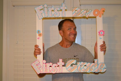 Frame for First Day of School