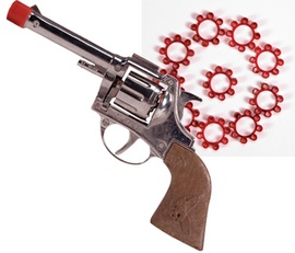 Cap Gun. I don't think you can even buy these anymore.