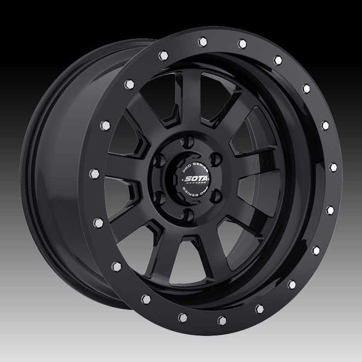 SOTA Offroad Pro Series S.S.D. Stealth Black Custom Truck Wheels Rims