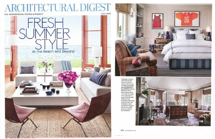 Architectural Digest July 2012 - the 'Hollywood Comeback'
