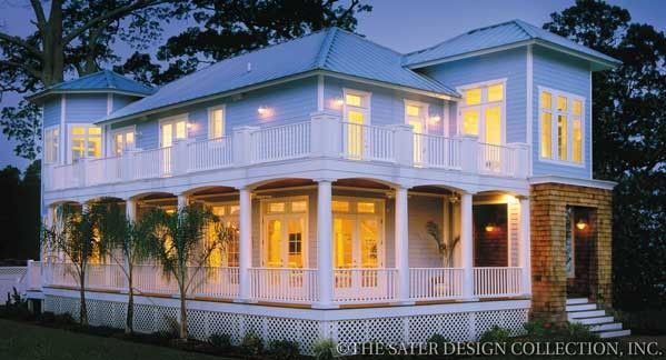 Key largo traditional neighborhood design home plan - Traditional neighborhood design house plans ...