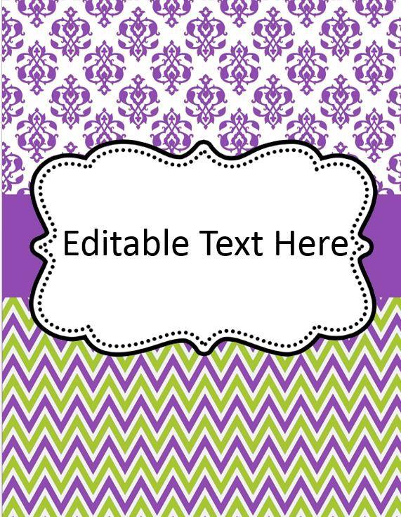 Free Editable Binder Cover | Printables | Pinterest