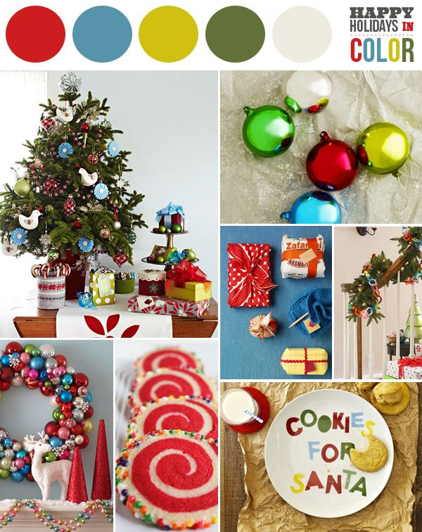 holidays in primary colorsColors Pallets, Colors Combos, Christmas Colors, Colors Palettes, Colors Combinations, Colors Chips, Colors Christmas, Colors Codes, Colors Inspiration