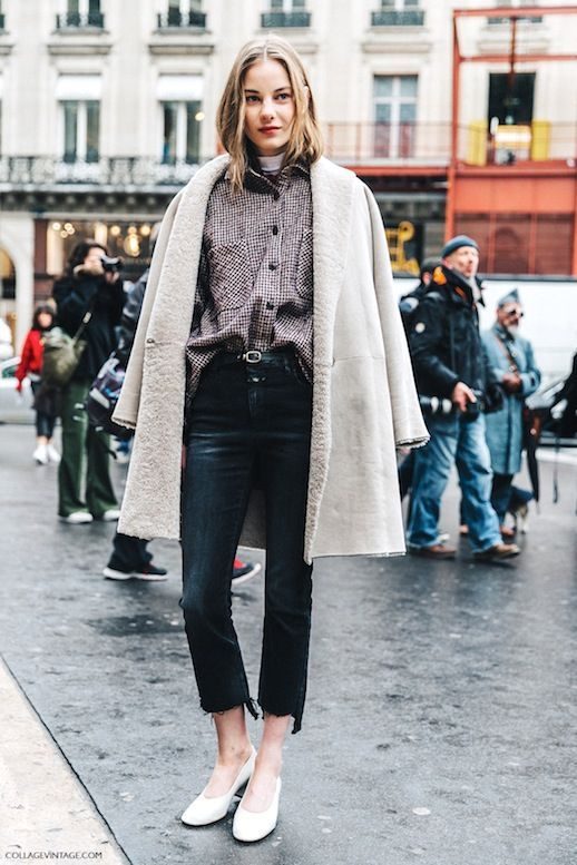 Photo via: Collage Vintage Although, you may be inclined to put away your cropped black raw-hem jeans as the weather starts to get colder, there are still some great ways for you to style them for the