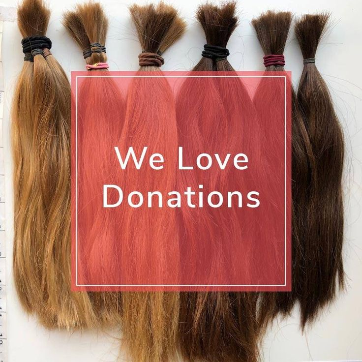 We accept hair donations in all colors and textures