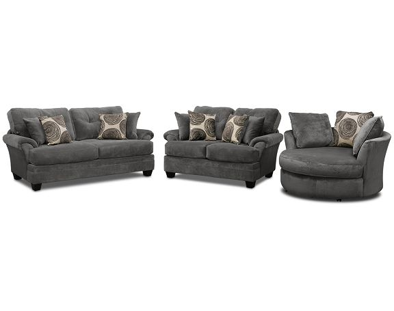 Cordoba gray upholstery collection value city furniture for Sofa ideal cordoba