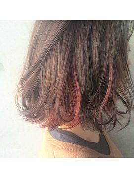 melgina 【メルジーナ】◆melgina◆インナーカラー*Red ロブ