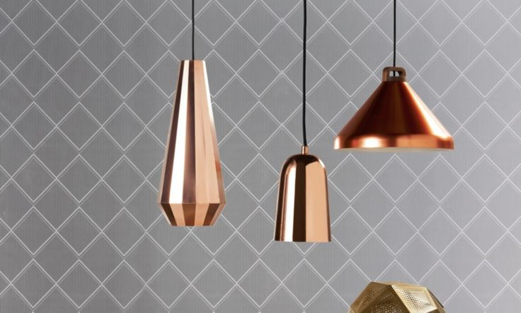 Polish up your accents with touches of copper, gold and silver