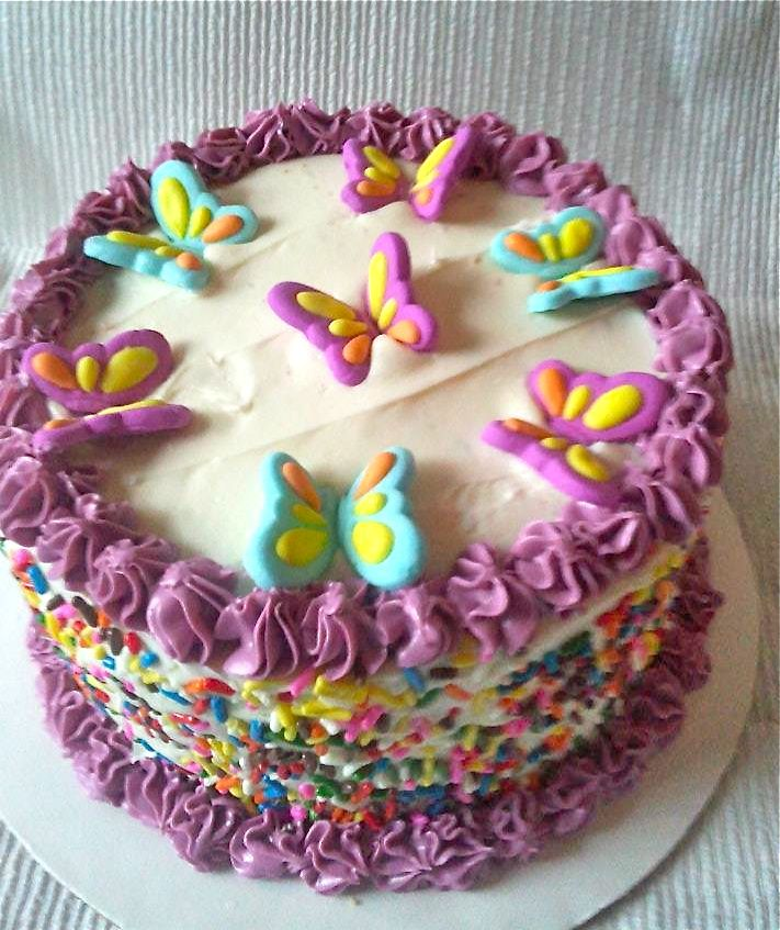 Buttercream Butterfly Cake My Cakes Amp Confections