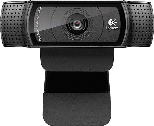 Logitech - C920 Pro Webcam - Black - Larger Front