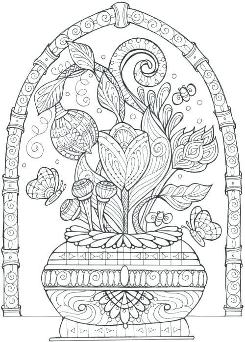 enchanting flowers coloring page coloring spring flowers coloring ...