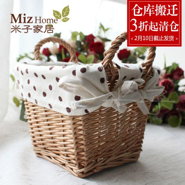 Mi Zi живет на тросточке Средиземного моря сельской местности орнамента творческих способностей для того чтобы аранжировать корзину клерка info органа al для того чтобы суспендировать Liu Bianxiao корзина цветков - Интернет-магазин Мой ТаоБао