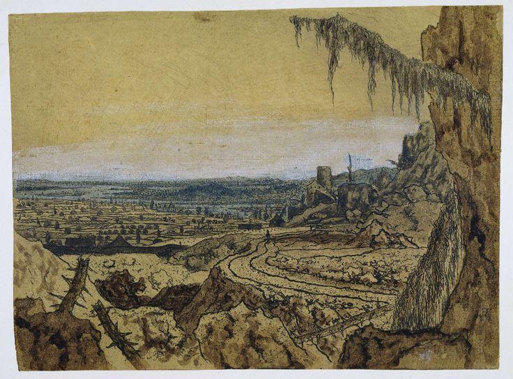 Landschap met de sparrentak, Hercules Segers