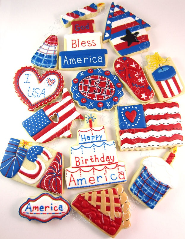 fourth of july cookies and cupcakes