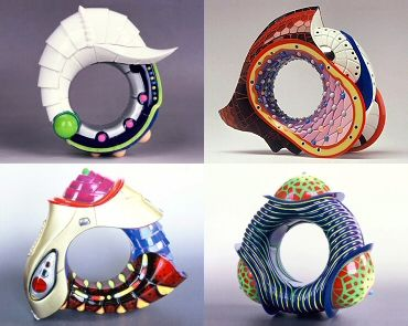 plastic rings by Peter Chang