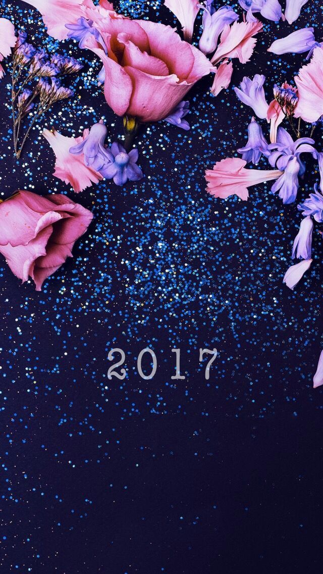 2017, wallpaper, new year, inspiration, background, iPhone, rose, roses, flowers, sparkly, sparkle, blue, navy, glitter, hd