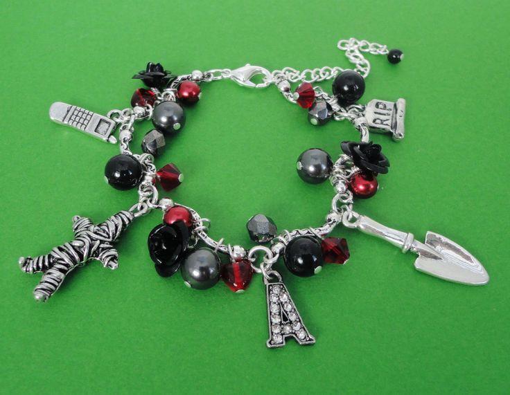 pretty little liars charm bracelet | Pretty Little Liars Charm Bracelet by MyBeadedTreasures on Etsy