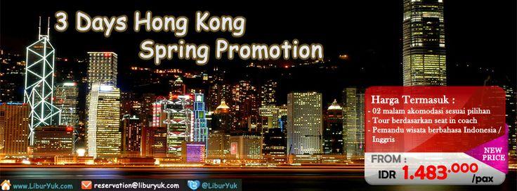Nikmati liburan musim #semi Anda dengan jalan-jalan keliling Hong Kong. Kini kami sediakan paket 3 hari Hong Kong #Spring Promotion. Ayo buruan booking sekarang juga dan dapatkan diskon spesialnya!.  Dapatkan Spesial Paket tersebut dari #LiburYuk http://liburyuk.com/promotional-package/book/99223807/3d-hongkong-spring-promotion #jalan2 #holiday #AbbeyTravel #Hongkong #Tour