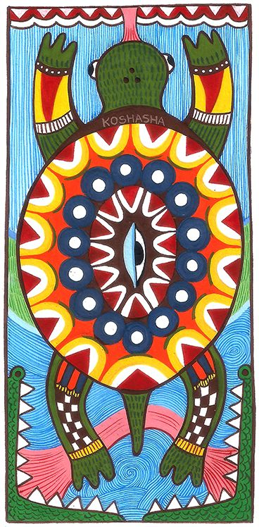 Madhubani 02 - Turtle people by kosha-bathia.deviantart.com on @DeviantArt