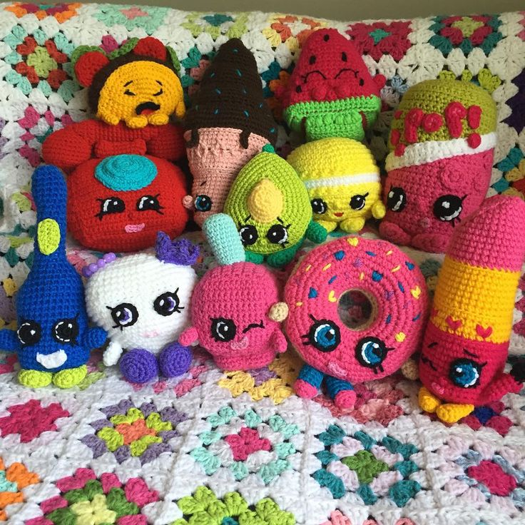 Crochet Shopkins Crochetkins