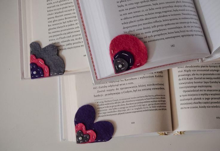 Zestaw 3 zakładek do książek w Zwierzostan na DaWanda.com