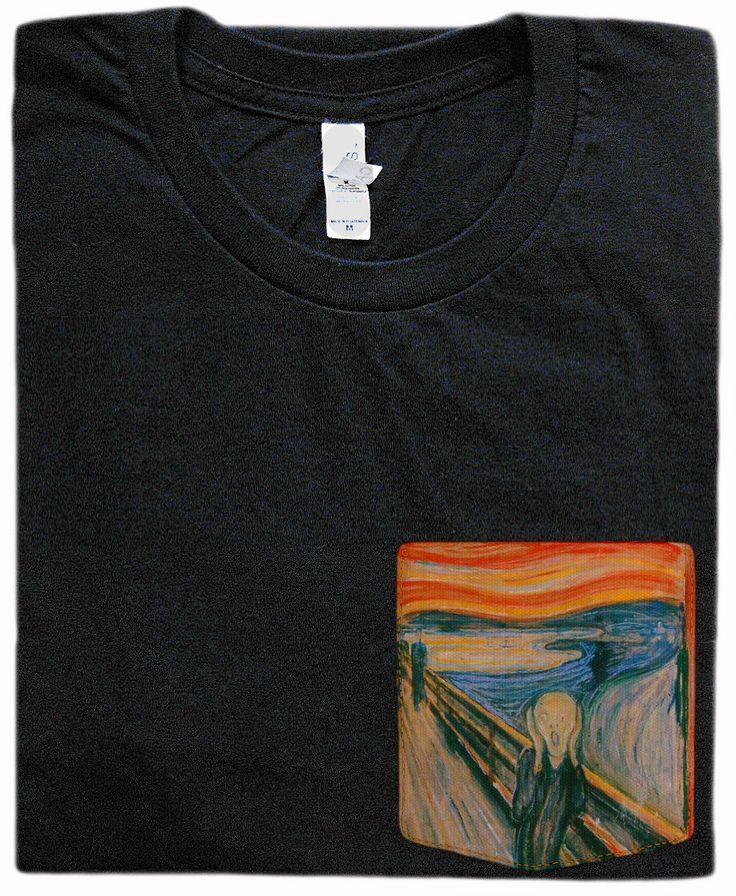 The Scream Pocket Shirt (Edvard Munch) by (null) on Etsy https://www.etsy.com/listing/206079845/the-scream-pocket-shirt-edvard-munch