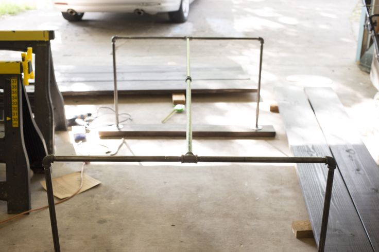 Black Pipe Table Project cheap picnic table  #picnic table      #DYI